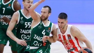 Kaunase Žalgiris mängis eduseisu maha ja kaotas Euroliigas juba viienda mängu