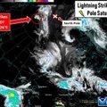 Üliharuldane juhus: Põhjapooluse lähedal lõi välku