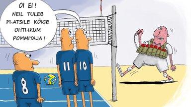 Võrkpalli EMi karikatuur | Kõige ohtlikum pommitaja