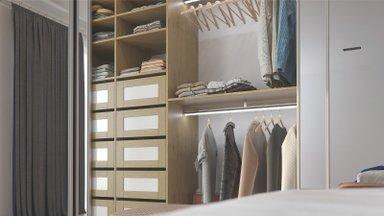 Läbimõeldud garderoob teeb kasulikuks iga millimeetri