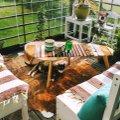 """""""Мой дом летом""""   Летняя комната, созданная на балконе многоквартирного дома"""