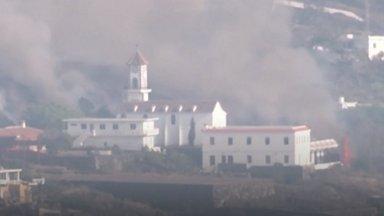 VIDEO   Kaos Kanaaridel jätkub: veel nädal tagasi suurest laavavoolust pääsenud kirik varises kokku
