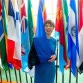 ФОТО   Платье Керсти Кальюлайд от эстонского бренда Iris Janvier продадут на аукционе. Смотрите, куда президент его надевала