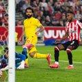 Salah lõi juubelivärava, Liverpool kokku kolm, aga võidust jäädi ikkagi ilma