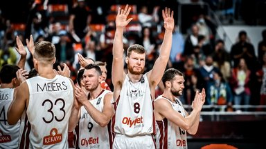 Läti korvpallikoondis sai vendade Bertansite toel Valgevene üle olulise võidu