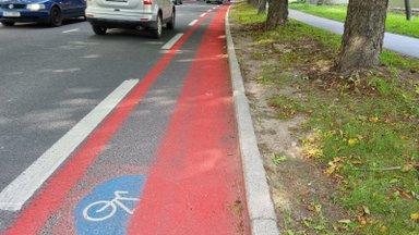 100 000 liitrit – selgus Tallinna rattaradadele ainuüksi sel aastal kantava punaste plastiku maht