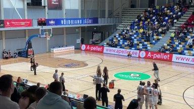 VAHVA VIDEO | Tartu Ülikooli ja Pärnu Sadama korvpallimatšil tabas fänn keskjooneviske