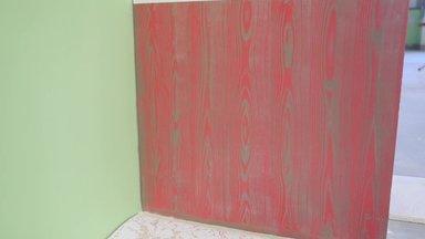 VIDEO: Põnev seinapind - metallikvärviga tehtud puidusüü muster